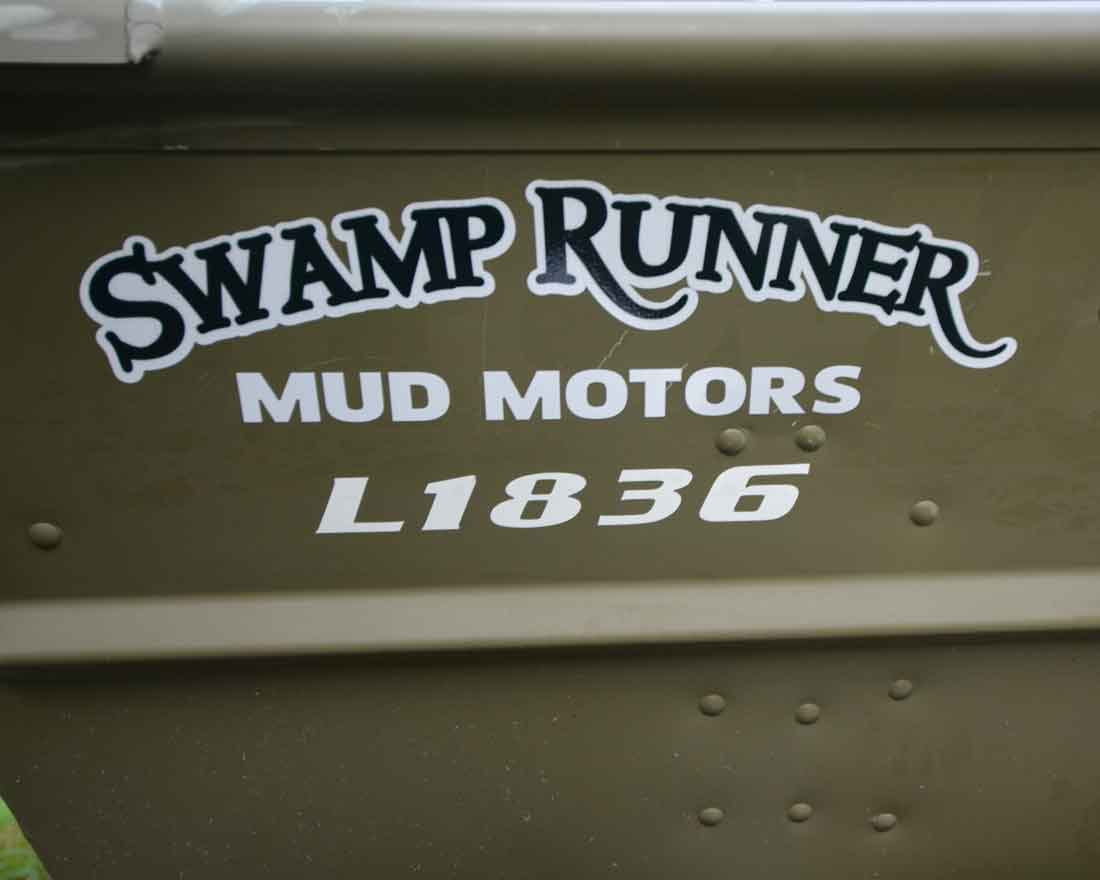 Swamp Runner Decal for Boats